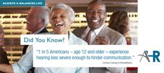 Did you know 1 in 15 Americans age 12 and older experience hearing loss severe enough to hinder communications? Hearing Aids, Did You Know, Improve Yourself, Communication, Age, Technology, American, Tech, Tecnologia