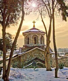 Saint Petka's (Paraskeva) Chapel, Belgrade, Serbia. The church was built on top of a spring that is believed to be miraculous. It was completed on St Petka's Day (also known as Paraskeva) and the spring waters are believed to be beneficial to women. When the foundations were being dug, numerous bones were found belonging to Serbian soldiers who had perished in the defense of Belgrade in 1914-1915, which were transferred to a specially-built ossuary in the walls beneath Jakšić's Tower.