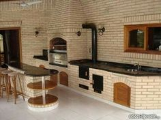 """Exceptional """"built in grill patio"""" detail is offered on our website. Read more and you wont be sorry you did. Diy Grill, Barbecue Grill, Grilling, Outdoor Kitchen Design, Kitchen Decor, Parrilla Exterior, Built In Grill, Outdoor Living, Outdoor Decor"""
