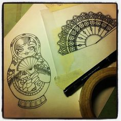 Pin Sketch For Tomorrows Tattoo Clock Flickr Photo Sharing On