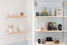 Ideas para decorar con estanterías colgantes | Decofilia.com