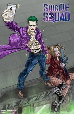 Paul Walcott | Suicide Squad | Fan Art | Movie Art | Comics | Joker | Harley Quinn | Couple | Cute