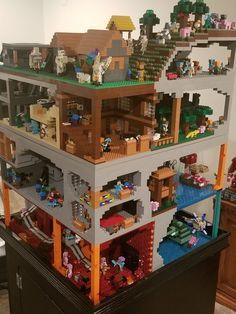 Lego Minecraft, Images Minecraft, Minecraft Video Games, Minecraft Construction, Minecraft Projects, Minecraft Crafts, Minecraft Party, Lego Projects, Minecraft Houses