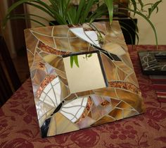 Butterfly mosaic mirror by irmaKdesigns on Etsy