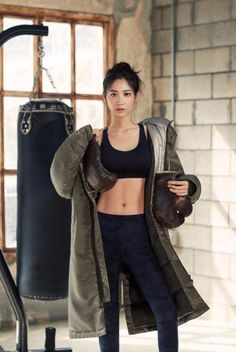 Actress Soo Hyun Shows Off Her Flawless Body in Photoshoot Yoga Fitness, Claudia Kim, Boxing Girl, Korean Actresses, Girl Body, Girl Dancing, Woman Face, Female Bodies, Role Models