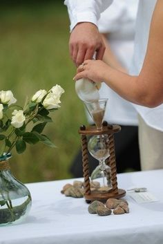 Heirloom Wedding Hourglass Standard Unity Sand Ceremony Package Items