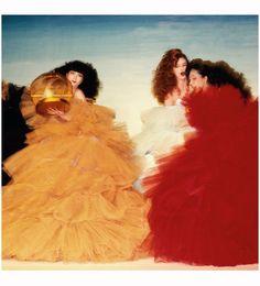 "saloandseverine: "" Thierry Mugler ballgowns by Niall McInerney, 1984 """
