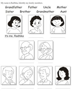 Family Members Coloring Page