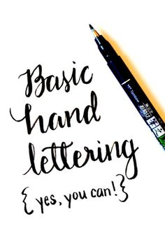 """With just a brush pen and paper, you can learn a simple technique for fancy hand lettering. This tutorial by Amy at One Artsy Mama, will show you how to letter the short word """"joy"""". Onc…"""