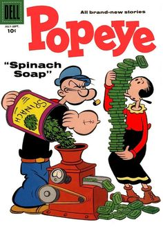 Popeye Dell Silver Age Cartoon Character Comics Not Signed Vintage Comic Books, Vintage Cartoon, Vintage Comics, Cartoon Art, Cartoon Characters, Old School Cartoons, Cool Cartoons, Popeye Olive Oyl, Popeye Cartoon