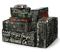 Products and Packages with Fantastic Typography