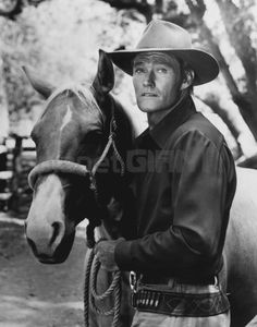 Chuck Connors The Rifleman Fine Art Print 11 x 14 #4.  He was a professional two-sport athlete before getting into acting.  On the original Boston Celtics team and also on the Dodgers baseball team.   Came by his muscles in the real-life gym.