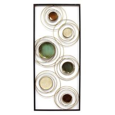 Stratton Home Decor Geometric Rings Panel Wall Decor, Multi Metal Wall Panel, Metal Panels, Panel Wall Art, Wall Decor Online, Wall Spaces, Cool Walls, Accent Pieces, Decoration, Diy Home Decor