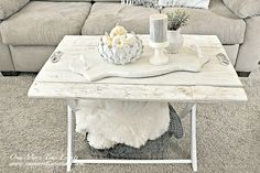 Weathered Reclaimed Wood Coffee Table at One More Time Events