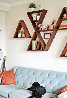 Shapely Shelves: 7 DIY Projects for Shelves With Unique Shapes | Apartment Therapy