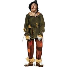 Life-size Scarecrow - Wizard of Oz Cardboard Standup that stands 72 inches tall and 24 inches wide. Free standing and comes with an easel back that easily folds up. Scarecrow Wizard Of Oz, Diy Scarecrow, Scarecrow Costume, Glinda Costume, Wizard Of Oz 1939, Storybook Characters, Funny Character, Classic Films, Cosplay Costumes