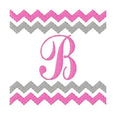 Chevron Zig Zag Monogram Machine Embroidery Font Design Set // Joyful Stitches