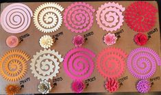 the completely different paper flowers you may make with the Cricut Flower Shoppe Cartridge. , the completely different paper flowers you may make with the Cricut Flower Shoppe Cartridge. the completely different paper flowers you may make wit. Rolled Paper Flowers, Paper Flowers Diy, Handmade Flowers, Flower Crafts, Diy Paper, Fabric Flowers, Paper Crafting, Felt Flowers Patterns, Flower Svg