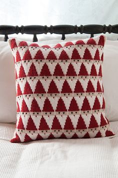This would make an adorable scarf pattern for December!  Santa Pillow - Knitting Patterns and Crochet Patterns from KnitPicks.com by Edited by Knit Picks Staff