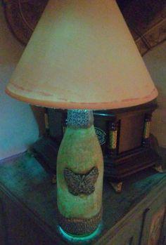 Untitled Decoupage, Table Lamp, Handmade, Home Decor, Lamp Table, Craft, Interior Design, Home Interior Design, Home Decoration