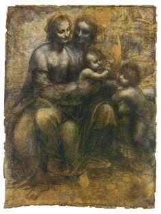 Leonardo. Virgen con el niño, Santa Ana y San Juan Bautista - Buscar con Google