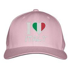 I LOVE ITALY Embroidered Baseball Cap