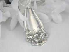 jewelry made from silverware | pendant made from silverware
