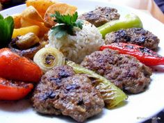 Köfte served at Cafe Cafe in Fethiye. Read the full post on Turkey's For Life. Afiyet Olsun! :)