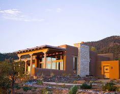 modern southwest decor | Santa Fe Home - Southwestern Style - Modern Architecture - House ...