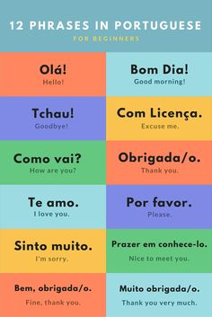 If you are planning to work in Portugal or any of the other countries where Portuguese is spoken then it can only be to your advantage to learn as much of the language as possible. Portuguese Phrases, Portuguese Lessons, Portuguese Language, English Lessons, Camino Portuguese, Portuguese To English, Portuguese Brazil, Learn Brazilian Portuguese, Portuguese Culture