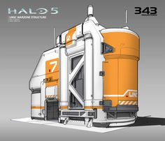 Halo 5 - Warzone Structures - Cover Building, Albert Ng on ArtStation at… Environment Concept Art, Environment Design, Concept Architecture, Futuristic Architecture, Cyberpunk, Spaceship Interior, Halo 5, Future Buildings, Space Engineers