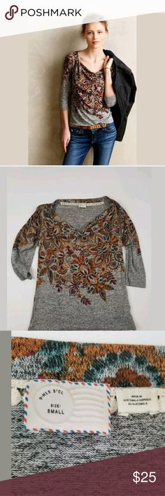Anthropologie Top S Postmark Jacaranda Gray Floral Anthropologie Postmark Jacaranda Top Rayon Blend Gray Floral Size Small Draped Neckline Laid Flat Bust 16 Across- Will Stretch Length 22 Anthropologie Tops