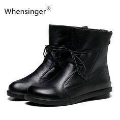 Find More Ankle Boots Information about Whensinger   Women Boots Handmade Shoes Vintage Genuine Leather Low heeled X1503,High Quality boot wedges,China boot pink Suppliers, Cheap boot usa from whensinger Official Store on Aliexpress.com