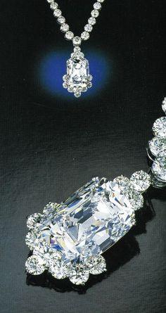 Archduke Joseph Diamond set in a modern necklace.