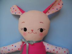 BABY TOY  Kawaii bunny plushie cloth doll by PalookaHandmade, $39.00