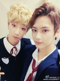 [WEIBO] 151002  #세븐틴  #Seventeen Update - Jun and The8