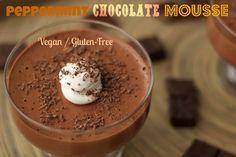 The best peppermint chocolate mousse EVER! #vegan #dairy-free #gluten-free #lovingitvegan