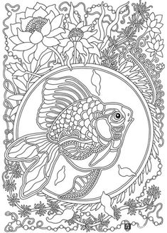Wind Carries Flowers Coloring Book : Olga Goloveshkin | Labyrinth Books Animal Coloring Pages, Coloring Book Pages, Printable Coloring Pages, Flower Coloring Pages, Amazing Drawings, Colorful Drawings, Coloring Pages For Grown Ups, Disney Princess Coloring Pages, Japanese Drawings