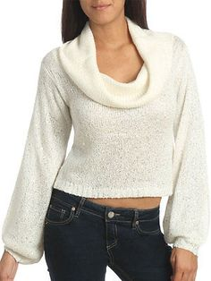 ARDEN B WOMEN'S COWL NECK SEQUIN  SWEATER SIZE S BRAND NEW