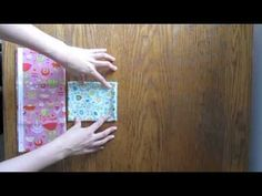 Folding quilting fabric - all pieces from a fat quarter to a one yard piece are folded to the same size. Nice video with clear, easy to understand directions.