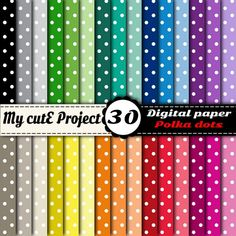 Buy Instant Download - DIGITAL PAPER - Polka dots 1 by mycuteproject. Explore more products on http://mycuteproject.etsy.com