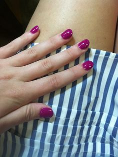 Purple rounded acrylics :)
