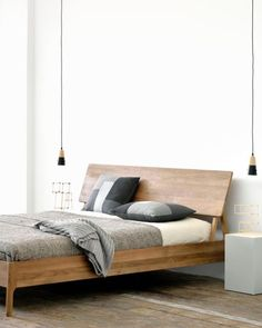 Furniture Design Double Bed - Unique Furniture Design Double Bed , Walnut Double Bed Walnut Air Bed Ethnicraft Things to Live with Home Bedroom, Modern Bedroom, Bedroom Decor, Bedroom Ideas, Bedroom Simple, Bedroom Rustic, Modern Bedding, Luxury Bedding, Natural Bedroom