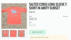 One SMALL #SaltedCorgi long sleeve in #AmitySunset is available!! Who is going to get it!? READY SET GOOOO!