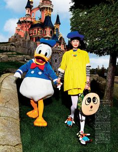 Vogue Japan Visit Disneyland | F.TAPE | Fashion Directory