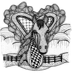 Zen horse, 10/24/12