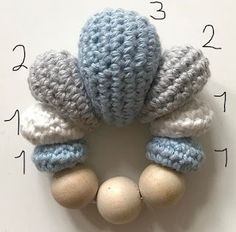 Crochet Baby Toys, Crochet Bebe, Knit Or Crochet, Crochet For Kids, Baby Knitting, Free Crochet, Pencil Toppers, Baby Crafts, Diy Toys