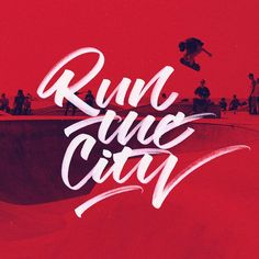 Run the city. #typography #handlettering #handmadefont #letters #typematters #typegang #typespire #typespot #thedailytype#thisisarcher #strengthinletters #goodtype #art #ink #customtype