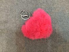Rex Rabbit Heart Keychain Pink