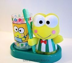 Sanrio Keroppi Brushing Pal Toothbrush & Cup Set, NEW In Box Brand: Sanrio Character: Keroppi Condition: New in Box Item Specifics: Item has never been used and still has original box. It was only ta